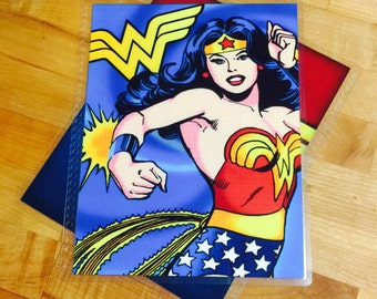 Front and Back Cover Set Wonder Woman Super Heroe for use with the Erin Condren OR Happy Planner