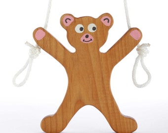Wooden Climbing Bear Toy