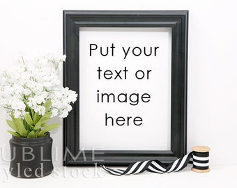 Styled Stock Photography / Blank Frame / Mockup / Black Frame / Empty Frame / Frame MockUp / Frame Background / StockStyle-751