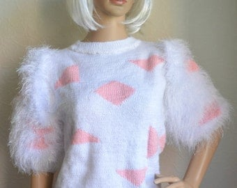 Hand knitted women's suit