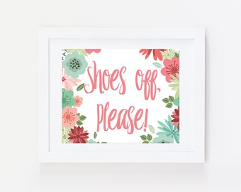Shoes Off Sign: Entryway Sign, Remove your Shoes Sign, Entry Sign, Remove Shoes Sign, Entryway Wall Decor, No Shoes Sign,  Mud Room Decor
