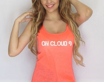 On cloud 9 Tank Top. Beach tank top Woman Tank Top.   TankThinkElite1