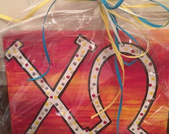 Chi Omega 8x10 Painting