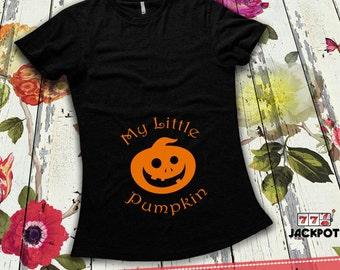 Halloween Pregnancy Costume Gift For Expecting Mother My Little Pumpkin Maternity Shirt Pregnancy Humor Mom To Be Maternity Clothes MD-495B
