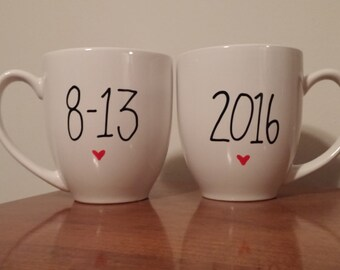 Save The Date | Save The Date Mugs | Wedding Date Mugs | Wedding Date Gift | Custom Mug | Custom Gift