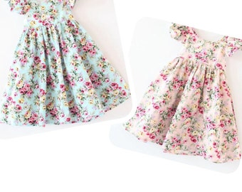 summer dress, floral dress, babygirl dress, pink dress, toddler dress, summer toddler dress, babygirl, baby shower gift, disneyland dress