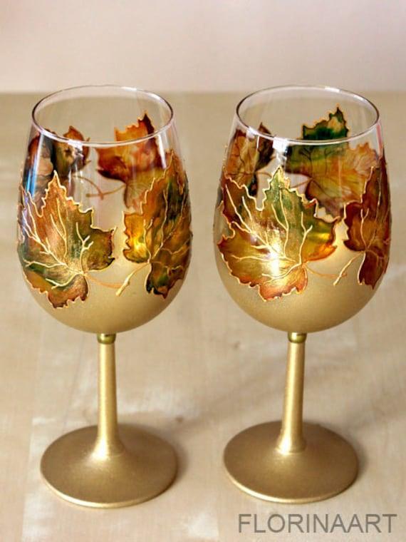 Wedding Gift Glass Painting : Wine Glasses, Retirement Gift, Wedding Glasses, Hand Painted Glasses ...