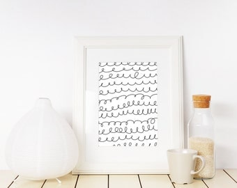 Curly Q Pattern Printable