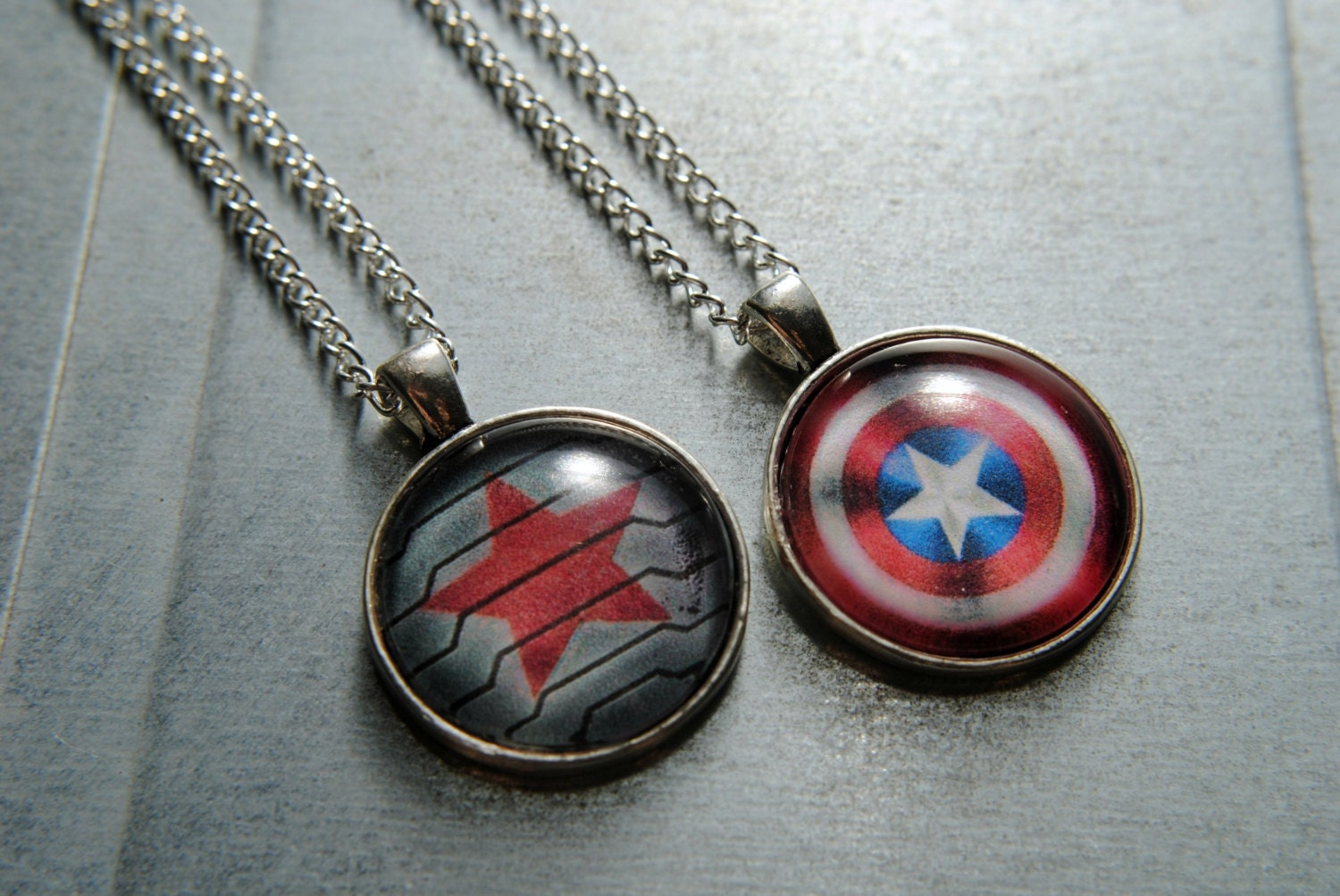 captain america or winter soldier necklace steve rogers