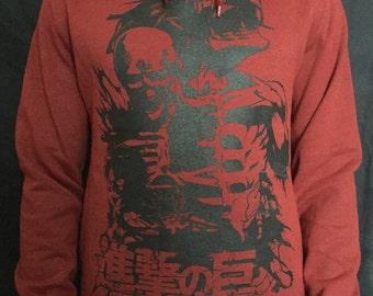 Attack on Titan hoodie Shingeki no kyojin hoodie anime manga eren titan