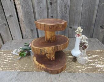 SALE!! Multi-Tiered Cupcake Stand ~ Wood Slice Cupcake Stand ~ Rustic Cupcake Stand ~ Log Cupcake Stand ~ Spring Wedding ~ Rustic Wedding