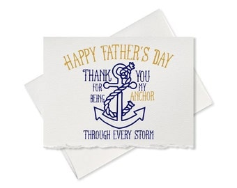 Dad Card Father's Day Card Dad Funny Card for Father Card Father's Day Card for husband My Anchor Card For Fathers Day Greeting Card