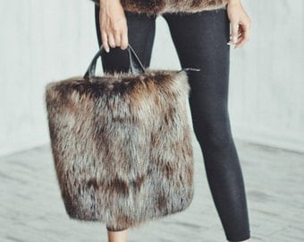 Real beaver fur purse