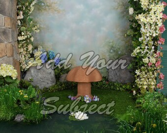 Digital Photo Background Spring Fairy Backdrop