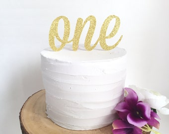 One Cake Topper  l  First Birthday Topper  l  First Birthday Cake Smash Topper  l  Gold First Birthday Cake Topper  l  Age Cake Topper