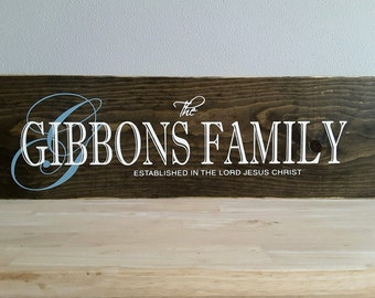 Bridal Shower Gift, Home Established Sign, Wedding Gift, Last Name Established, Family Established, Custom Wedding Established Wood Sign