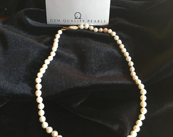 Vintage Murata Pearls with Real Gold clasp