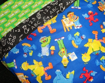 Sesame street bedding etsy for Monster themed fabric