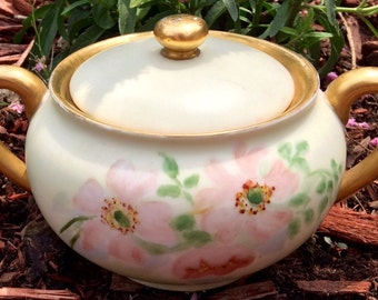 Made in Japan Hand Decorated Floral Sugar Jar