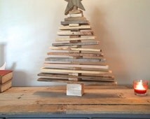 Pallet Christmas Tree (Spaced Out), Holiday Decor, Pallet art, Wood Christmas Trees