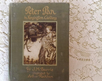 Peter Pan in Kensington Gardens by Barrie, Illustrated by Rockham, 1927