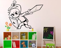 Princess Zelda Wall Vinyl Decal Legend of Zelda Wall Sticker Home Interior Bedroom Decor Kids Children Wall Design 5(zda)