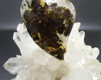 Black Agate Dark Heart Pendant.