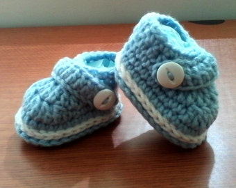 Crochet Baby Booties Boy And Girl