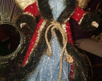 Red and Blue Angel Tree Topper