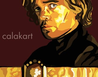 GAME OF THRONES Tyrion Lannister - Digital Drawing - 11x14 Print
