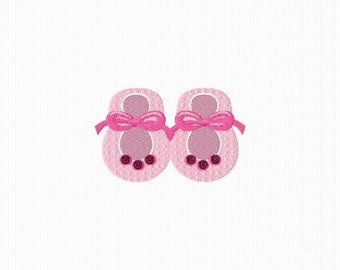 Embroidery slippers for baby for machine embroidery 4 x 4 format