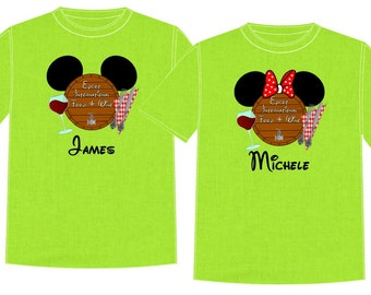 EPCOT FOOD and WINE Disney Vacation Group Shirts