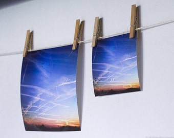 """Photograph """"Rink sky"""" - Limited edition - For wall or table decoration, as gift for birthday, christmas..."""