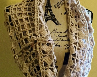 Hand Crocheted Shrug Bridal Wrap