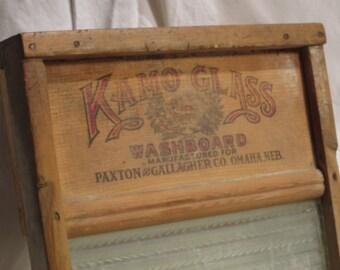 Antique Washboard Laundry Shelf