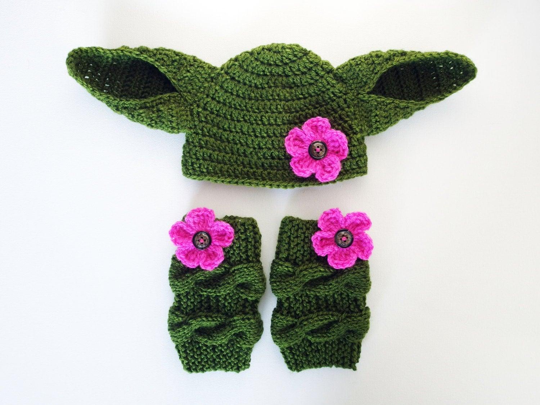 star wars costume yoda baby hat and leg warmers yoda halloween costume yoda