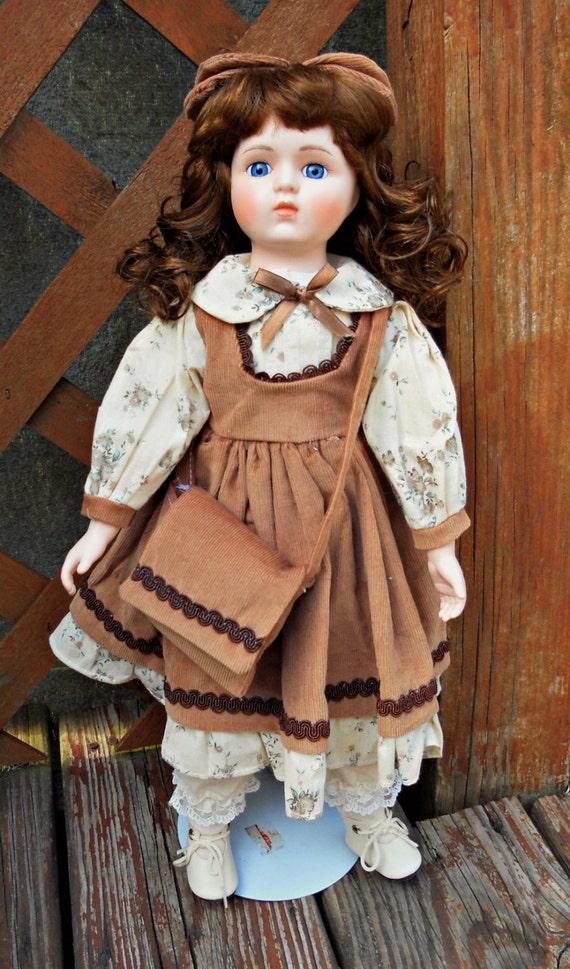 porcelain doll vintage doll home decor vintage decor glass