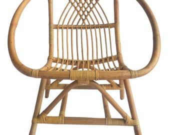 Kids Natural Rattan Chair