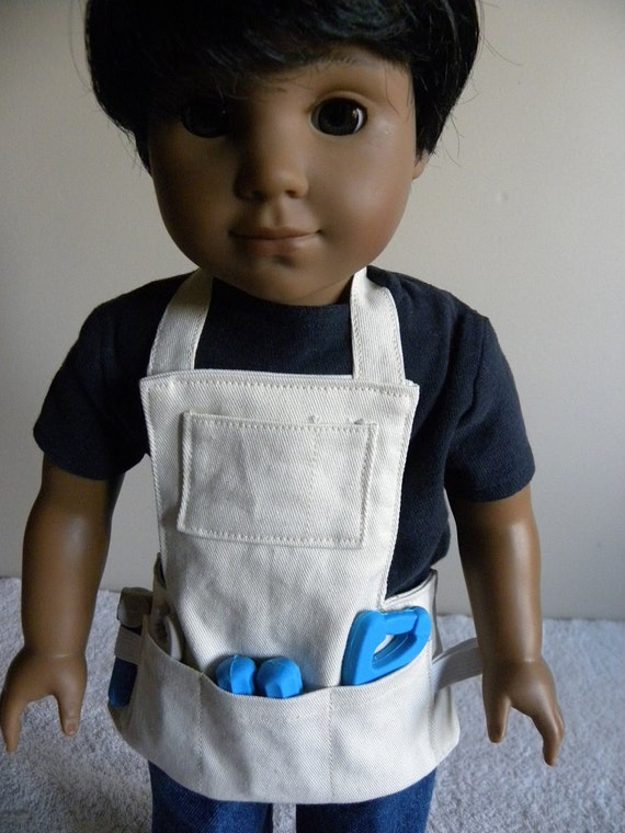 18 inch doll tool apron for Garden tools for 18 inch doll