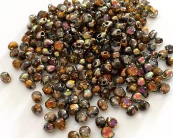 Miyuki 3.4mm Drops, Crystal Magic Copper, 14 grams