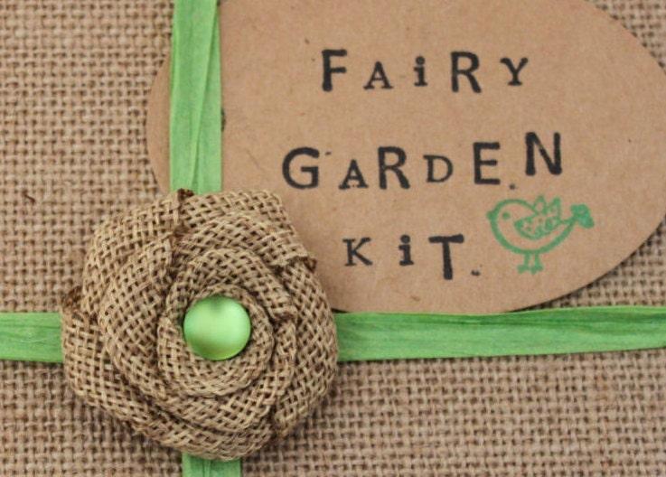 Green Fairy Garden Kit DIY fairy house kit fairy garden kit