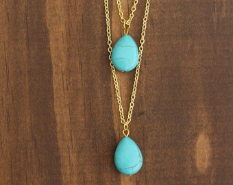 Double Trouble Turquoise Necklace