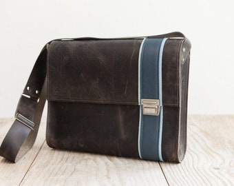 Dark business bag XL, leather bag from Haeute, made in Germany