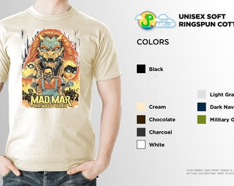 Mad Mar Rainbow Road Shirt | PREMIUM QUALITY | Mad Max Fury Road | Nintendo | Super Mario | Bowser | Gamer Tee | Geek Clothing | T-Shirt
