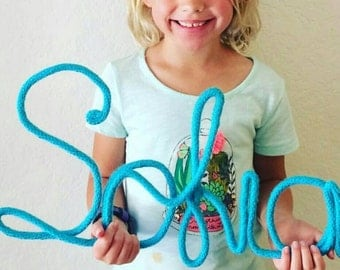 Wire Word Art, Wire Wall Decor, Wire Wall Art, Nursery Wall Decor, Baby Girl Room Decor, Name Decor Nursery, Baby Room Decor, Baby Name Art