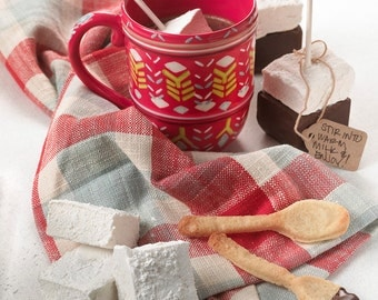 Hot Chocolate + Marshmallows On A Stick