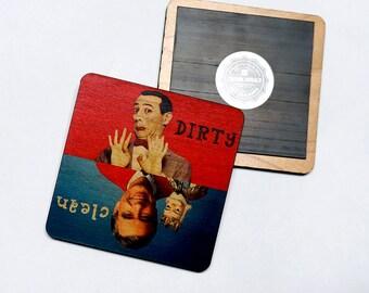 Clean Dirty Dishwasher Magnet Mr. Rogers Pee Wee Herman Notifier Sign