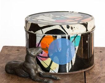 Retro Cookie Jar, Wild modernist 60's cookie tin