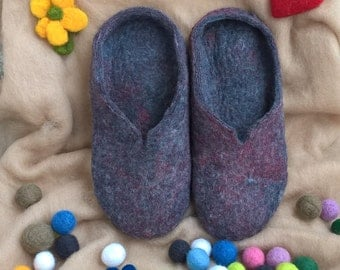 Felt Slippers, Felted Slippers, Home Slippers Shoes, Wool Felt Slippers, Womens Slippers, Womens Footwear, Gift For Her, Mothers Day Gift