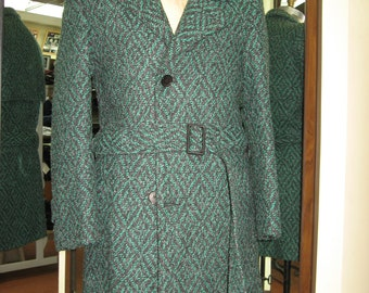 NEW - Vintage Wool, Polyester and Acrylic green coat - size 36 & 38 slim